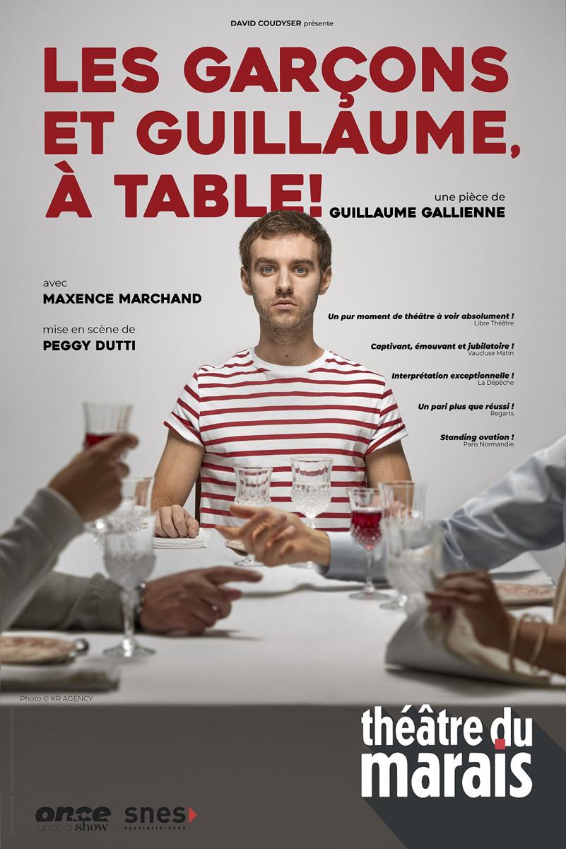 Affiche Les garçons et Guillaume à table